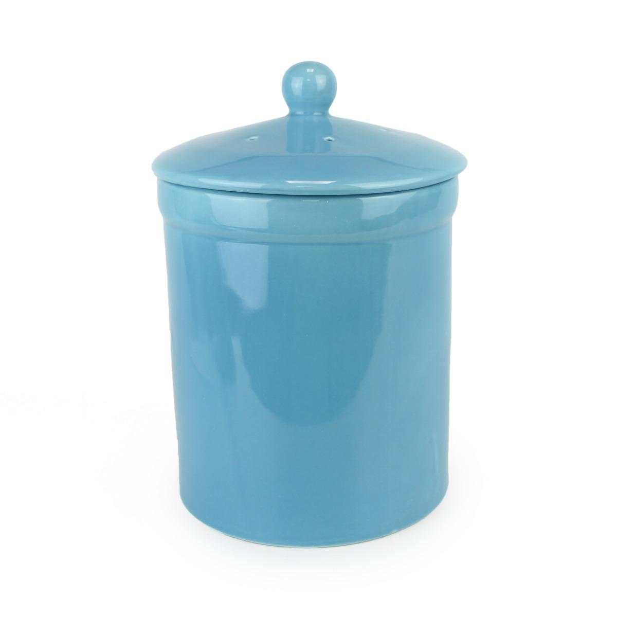 Portland Ceramic Compost Caddy - Teal Blue