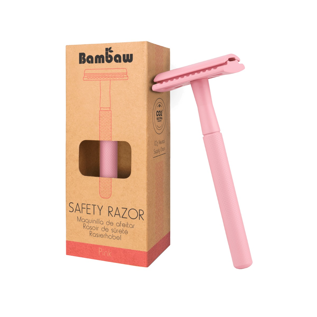Bambaw Metal Eco Safety Razor - Pink