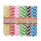 Mixed Colour Stripe Paper Straws Pack (150 Straws)