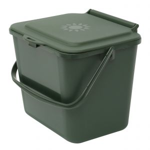 Green Small 5 Litre Plastic Food Bin/Caddy - Side View