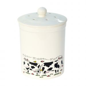 Ashmore Ceramic Compost Caddy - Cow