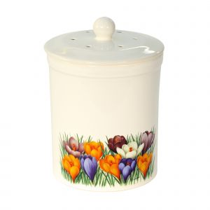 Ashmore Ceramic Compost Caddy - Crocus