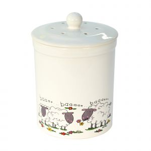 Ashmore Ceramic Compost Caddy - Sheep