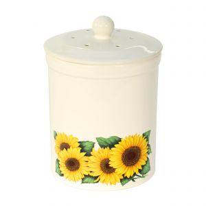Ashmore Ceramic Compost Caddy - Sunflower