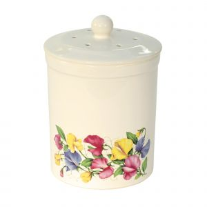 Ashmore Ceramic Compost Caddy - Sweet Pea