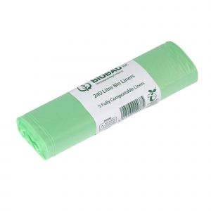 240L BioBag Compostable Bin Liners (Large Wheelie Bins - Small Rolls)