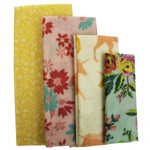 Beeswax Food Covers - Set of 4 - Bud Design
