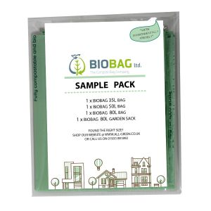 Sample Compostable Bag Pack - Biobag - 35/40L, 50L, 80L, 80L Garden