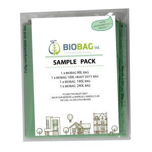 Sample Compostable Bag Pack - Biobag - 90L, 100L, 140L, 240L