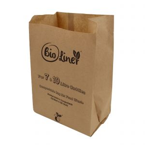 7 & 10L Bioliner Compostable Paper Caddy Bags (Medium)