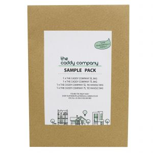 Sample Compostable Bag Pack - Caddy Company - 5L, 5L tie handle, 7L, 7L tie handle