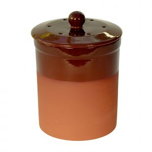 Chetnole Terracotta Compost Caddy - Chocolate Brown