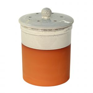 Chetnole Terracotta Compost Caddy - Oyster White
