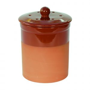 Chetnole Terracotta Compost Caddy - Red