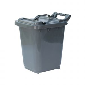 Large Kerbside Compost Caddy with Locking Lid - 23L - Dark Grey
