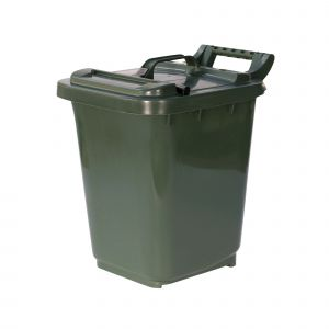 Large Kerbside Compost Caddy with Locking Lid - 23L - Green