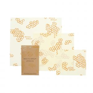 Bee's Wrap Food Covers - Set of 3 - Honeycomb Design