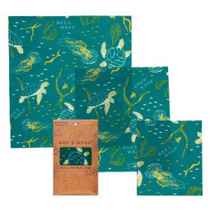 Ocean print Bee's Wrap Food Covers - Assorted Pack of 3
