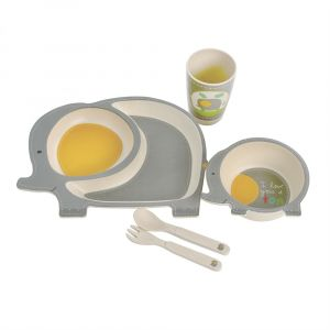 Eco Bamboo 5PC Kids Set - Elephant