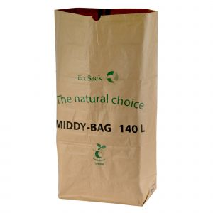 140L EcoSack Paper Compostable Bin Liners (Small Wheelie Bins)
