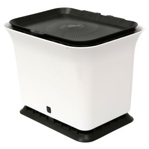 Full Circle Odour-Free Compost Collector / Food Bin 5.7 Litre – White & Black - Side Image