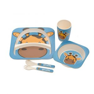 Eco Bamboo 5PC Kids Set - Giraffe
