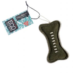 Green & Wilds Eco Dog Toy - Green Bone