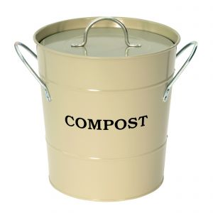 Garden Trading Clay / Grey / Sage - Metal Compost Pail