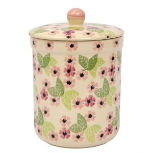 Haselbury Ceramic Compost Caddy / Food Waste Bin - 3L - Blushing Susan Floral Design - Main