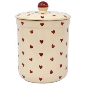 Haselbury Ceramic Compost Caddy / Food Waste Bin - 3L - Queen of Hearts Design -Main Image