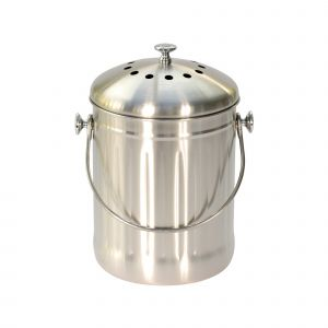 Brushed Stainless Steel Compost Caddy