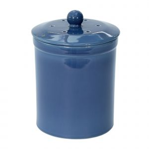 Melbury Ceramic Compost Caddy - Dark Blue