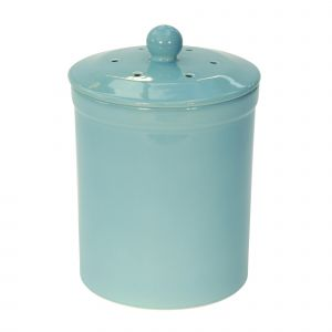 Melbury Ceramic Compost Caddy - Light Blue