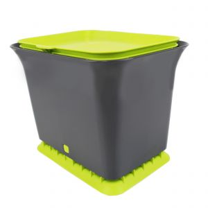 Full Circle Odour-Free Compost Collector– 5.7 Litre – Grey & Green