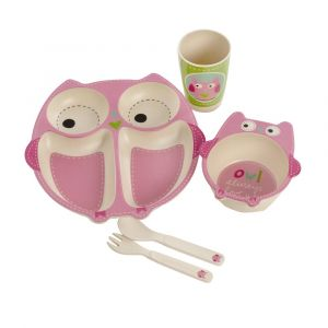 Eco Bamboo 5PC Kids Set - Owl