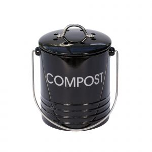 Mini Black Metal Compost Caddy