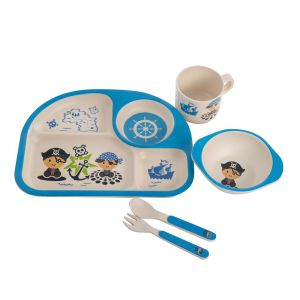 Eco Bamboo 5PC Kids Set - Pirate