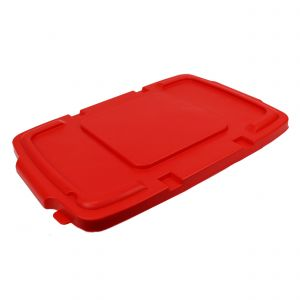 Red Coral Hard Plastic Lid for Outdoor Recycling Boxes