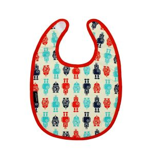 Keep Leaf Baby Bib - Robot Design