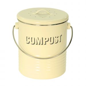 Vintage Kitchen Compost Caddy - Cream
