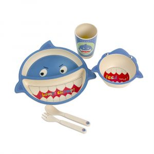 Eco Bamboo 5PC Kids Set - Shark