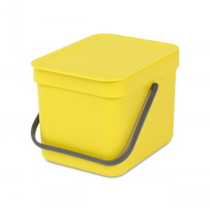 Brabantia Sort & Go Kitchen Caddy - Yellow - 6L Size