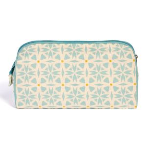 Keep Leaf Toiletry Bag - Geometric Design