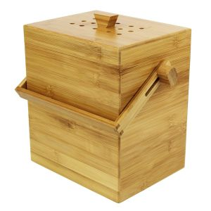 Wooden Bamboo Compost Caddy