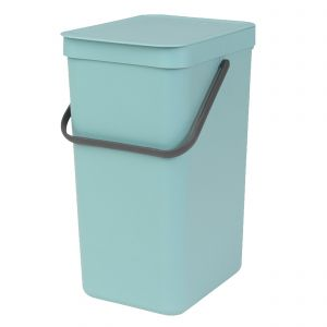 Brabantia Sort & Go Kitchen Recycling Bin - Mint - 16L Size
