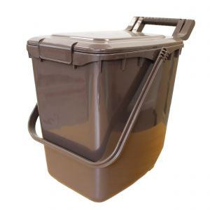 Clip Lid - Large Kerbside Compost Caddy - 23L - Brown