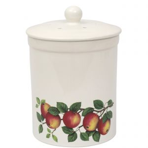 Ashmore Ceramic Compost Caddy / Food Bin - 3L Apple Design - Main