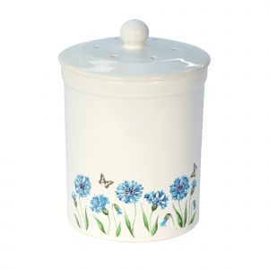 Ashmore Ceramic Compost Caddy - Cornflower