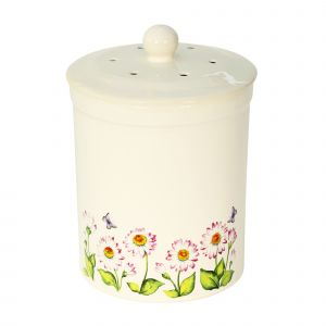 Ashmore Ceramic Compost Caddy - Daisy