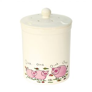 Ashmore Ceramic Compost Caddy - Pig